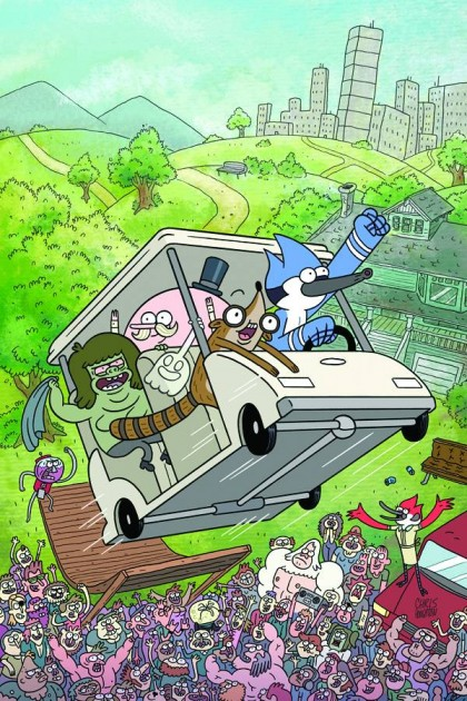 ed59663e677c7 ... Cartoon Network cohort, Regular Show boasts a wildly colorful cast of  characters sure to attract the best talent comics has to offer.