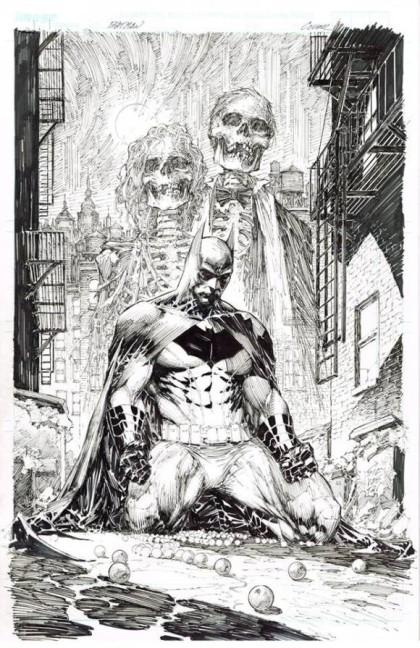 silverstri batman b&w 1