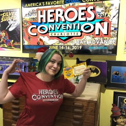 Each shirt comes with a HeroesCon 2019 Ticket Certificate!