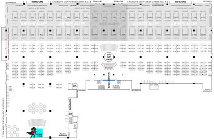 HeroesCon 2019 Floor Plan FOR REFERENCE
