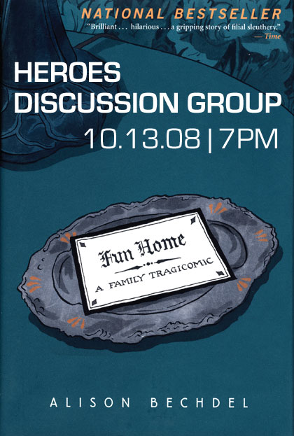 THE HEROESONLINE BLOG | NEXT DISCUSSION GROUP :: October 13